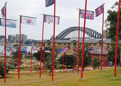 Sydney Festival Flag Poles 05