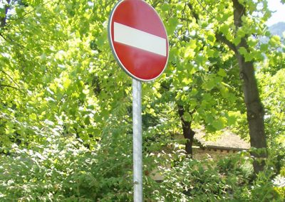Road Stop Sign